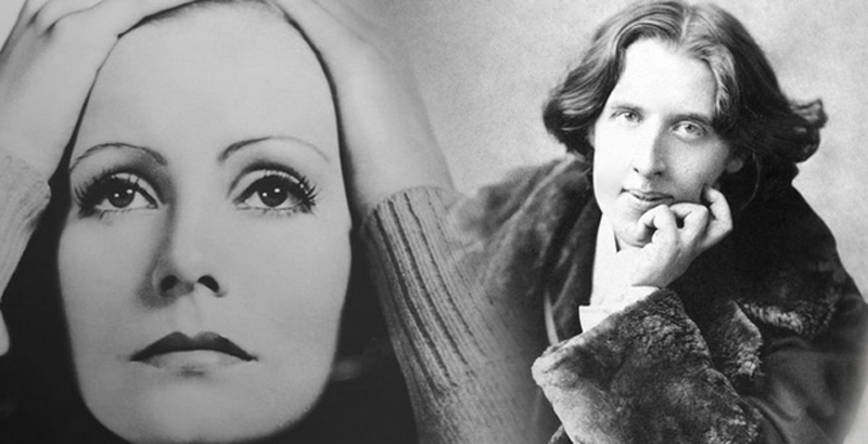 Greta Garbo and Oscar Wilde are personalities  in love with Taormina Sicily Italy