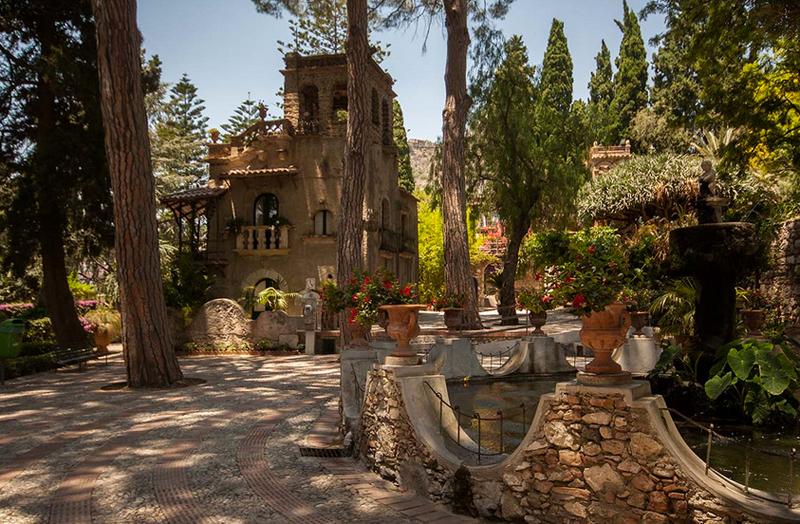 Public Garden Taormina Sicily Italy